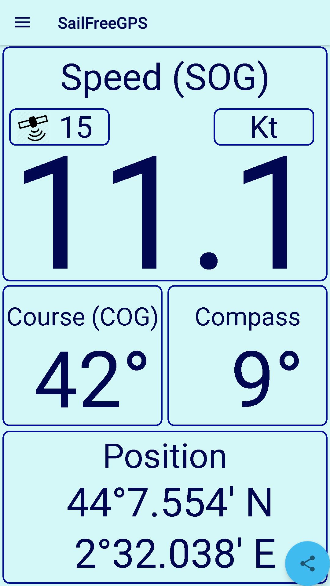 New Android Sailing App : SailFreeGPS-screenshot_p1.png