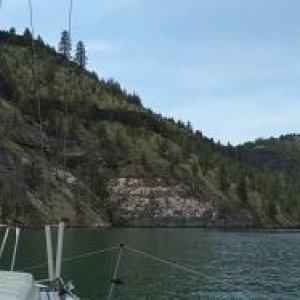 Sailing on Lake Billy Chinook, central Oregon